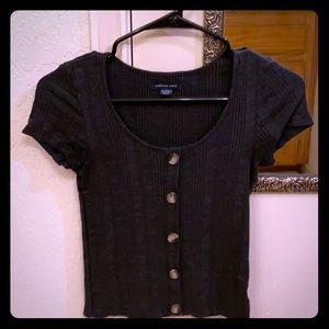 American Eagle Big Button Top